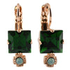 Mariana Jewelry Fern Earrings, Rose Gold Plated with Swarovski Crystal, Nature Collection MAR-E-1419 2143 RG6