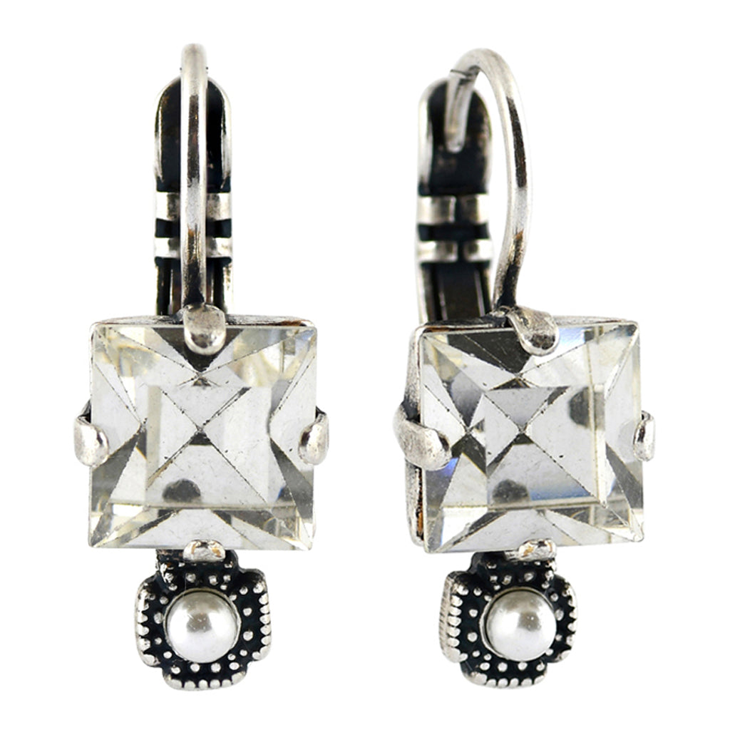 Mariana Jewelry Champagne and Caviar Earrings, Silver Plated with Swarovski Crystal, Nature Collection MAR-E-1419 3911 SP6