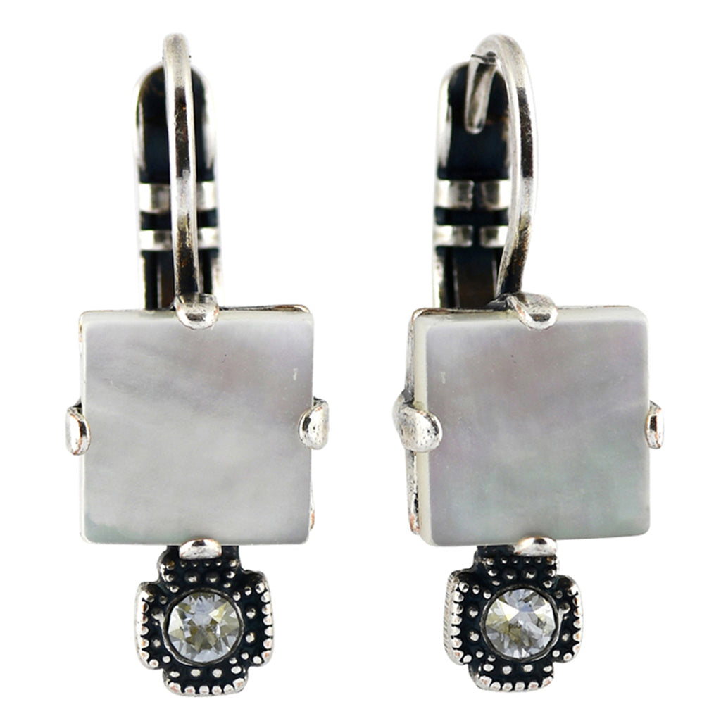 Mariana Jewelry Silk Earrings, Silver Plated with Swarovski Crystal, Nature Collection MAR-E-1419 M1049 SP6