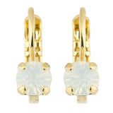 Mariana Gold Plated Petite Round Crystal Drop Earrings