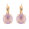 Mariana Rose Gold Plated Petite Round Crystal Drop Earrings