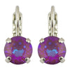 Mariana Sun-Kissed Plum Rhodium Plated Petite Round Crystal Post Earrings
