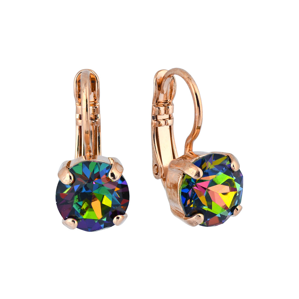 Mariana Tutti Frutti Rose Gold Plated Petite Round Crystal Drop Earrings