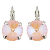 Mariana Rhodium Plated Petite Round Crystal Drop Earrings