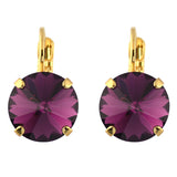 Mariana Jewelry Hoiday Lights Gold Plated Petite Round Crystal Drop Earrings