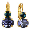 Mariana Jewelry Peacock Earrings, Gold Plated with Swarovski Crystal, Nature Collection MAR-E-1462 2139 YG6