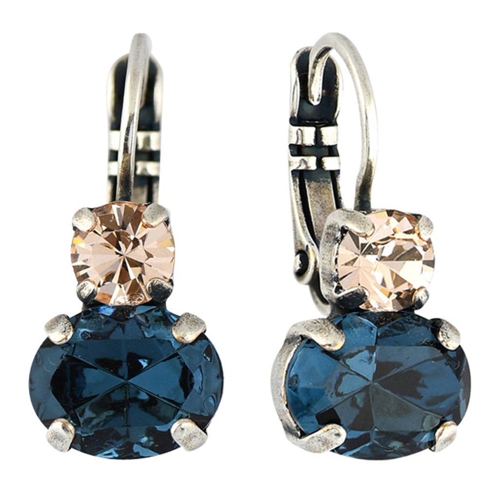 Mariana Jewelry Ocean Earrings, Silver Plated with Swarovski Crystal, Nature Collection MAR-E-1462 2142 SP6