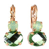 Mariana Jewelry Fern Earrings, Rose Gold Plated with Swarovski Crystal, Nature Collection MAR-E-1462 2143 RG6