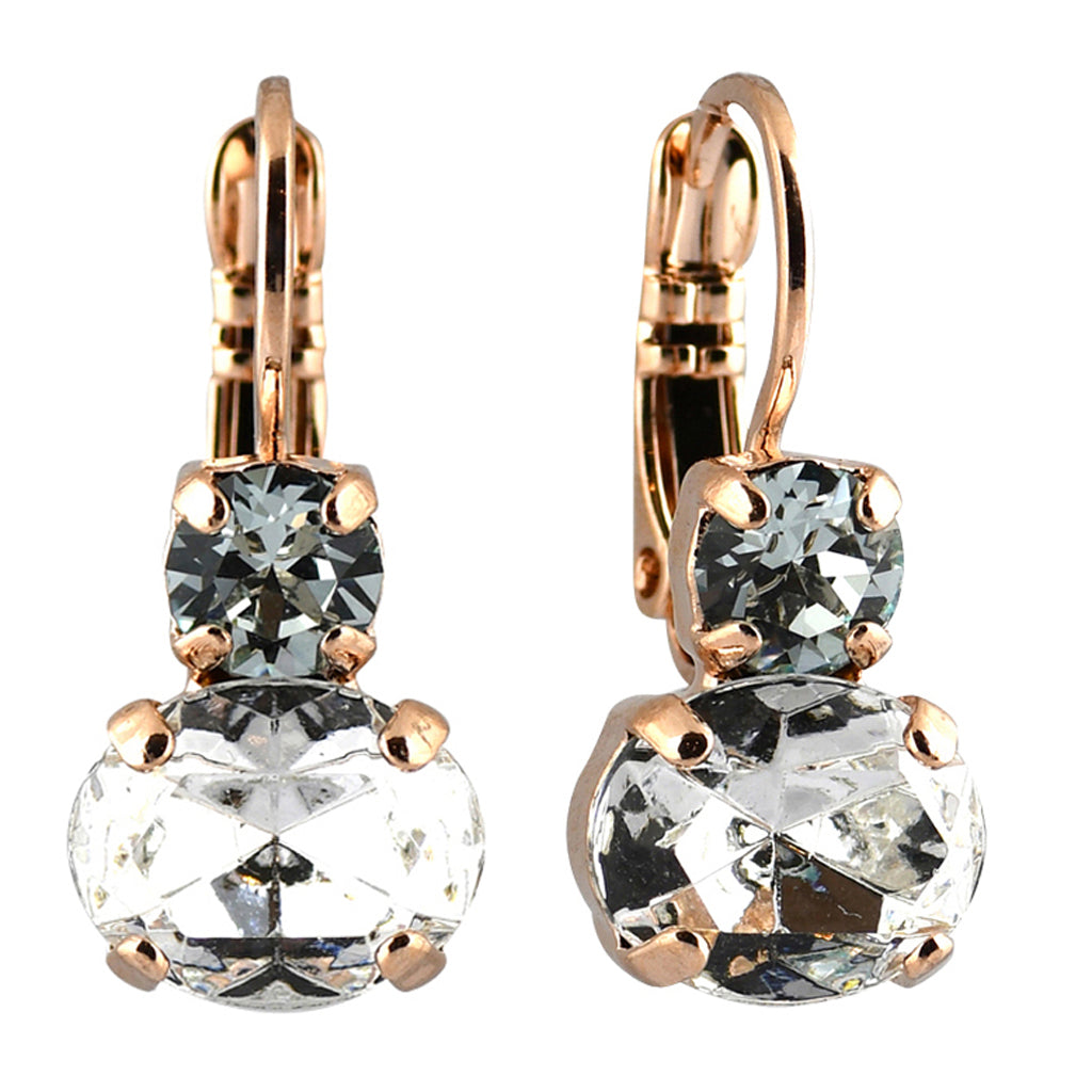 Mariana Jewelry Seashell Earrings, Rose Gold Plated with Swarovski Crystal, Nature Collection MAR-E-1462 39361 RG6