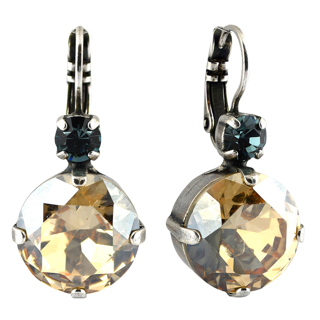 Mariana Jewelry Moon Drops Earrings, Silver Plated with Swarovski Crystal, Nature Collection MAR-E-1506 216-3 SP6