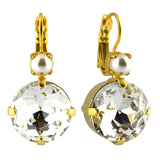 Mariana Jewelry Champagne and Caviar Earrings, Gold Plated with Swarovski Crystal, Nature Collection MAR-E-1506 3911 YG6