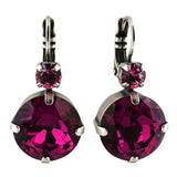 Mariana Jewelry Saba Earrings, Silver Plated with Swarovski Crystal, Nature Collection MAR-E-1506 5022 SP6
