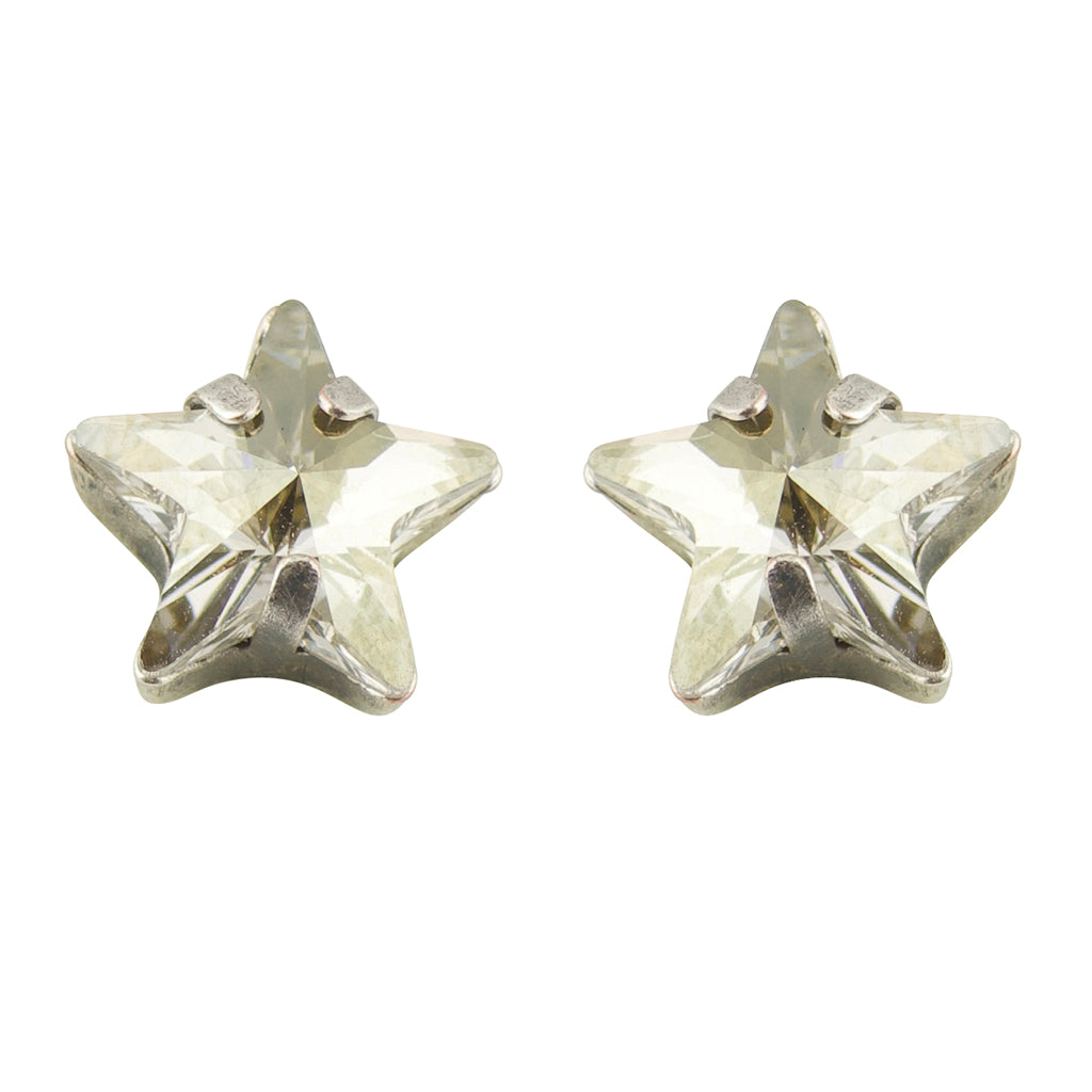 "Mariana ""On A Clear Day"" Silver Plated Petite Star Crystal Post Earrings"