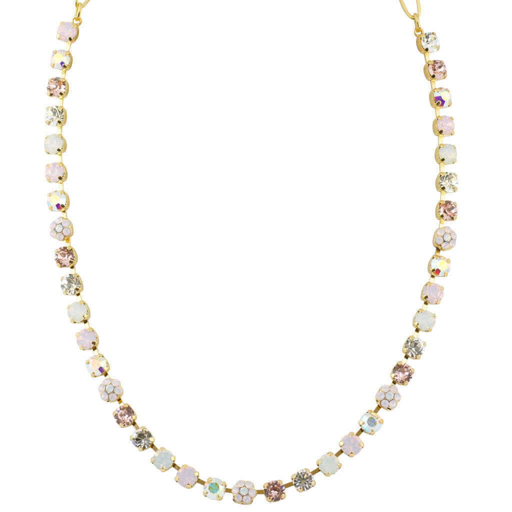 "Mariana ""Snowflake"" Gold Plated Crystal Necklace"