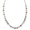 Mariana Jewelry Snowflake Silver Plated Crystal Flower Necklace, 17