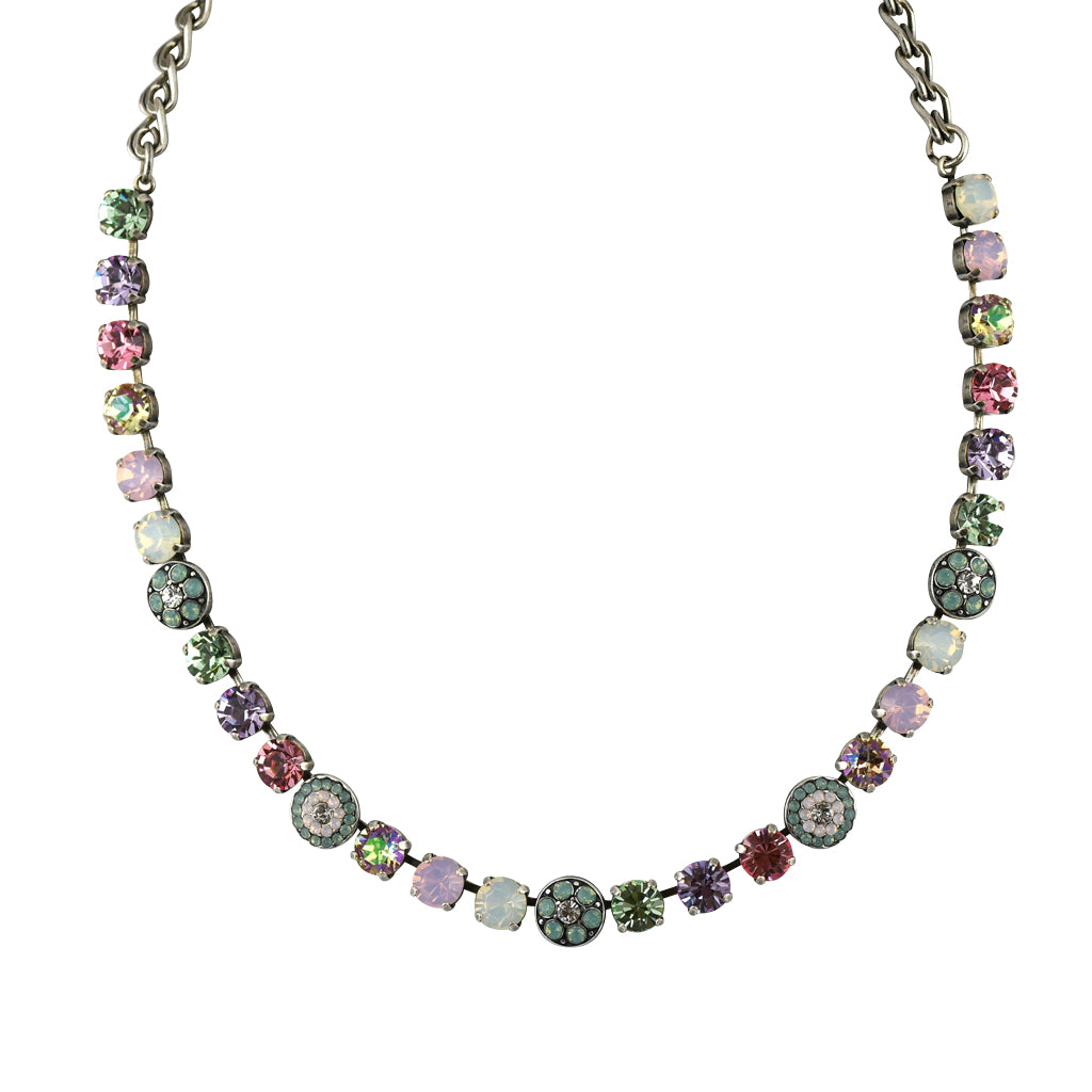 Mariana Jewelry Pina Colada Necklace, Silver Plated with Swarovski Crystal, Nature Collection MAR-N-3044_1 1063 SP