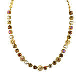 Mariana Jewelry Caramel Necklace, Gold Plated with Swarovski Crystal, Nature Collection MAR-N-3044_1 137 YG
