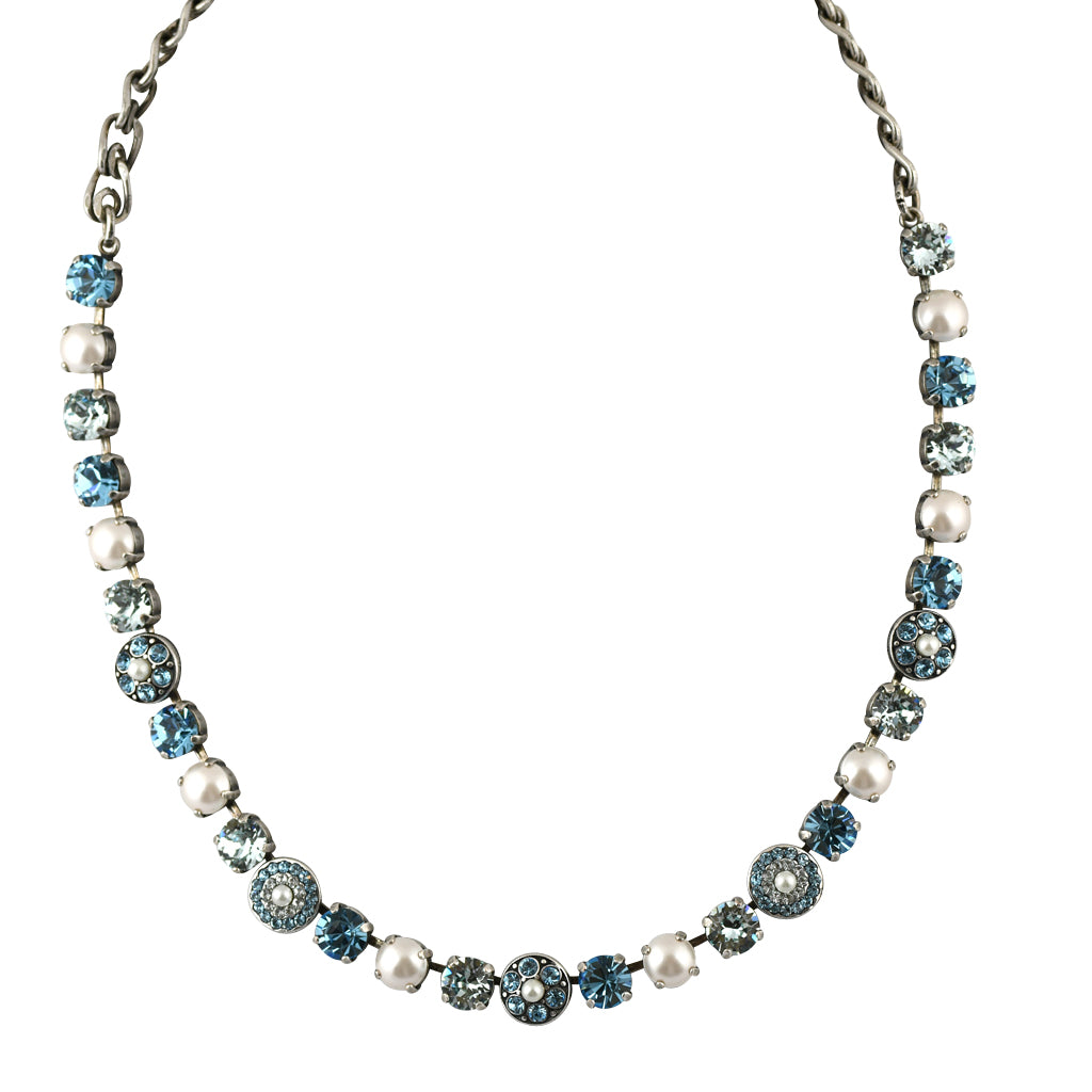 Mariana Jewelry Aruba Necklace, Silver Plated with Swarovski Crystal, Nature Collection MAR-N-3044_1 202361 SP
