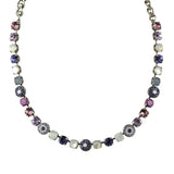 Mariana Jewelry Purple Rain Necklace, Silver Plated with Swarovski Crystal, Nature Collection MAR-N-3044_1 M1062 SP
