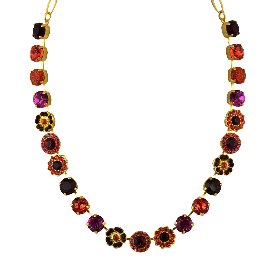 Mariana Jewelry Firefly Necklace, Gold Plated with Swarovski Crystal, Nature Collection MAR-N-3045_1SO2 M2140 YG