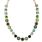 Mariana Jewelry Fern Necklace, Rose Gold Plated with Swarovski Crystal, Nature Collection MAR-N-3045_1SO2 M2143 RG