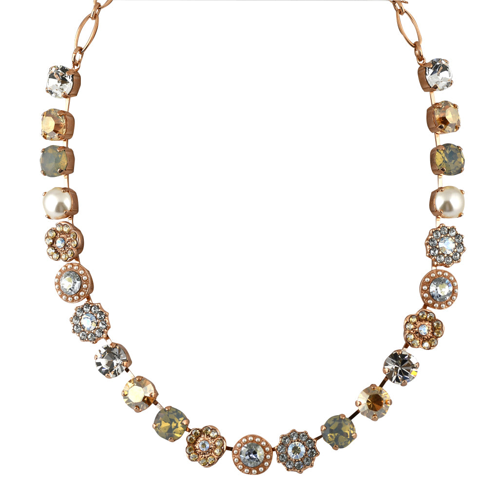 Mariana Jewelry Seashell Necklace, Rose Gold Plated with Swarovski Crystal, Nature Collection MAR-N-3045_1 39361 RG