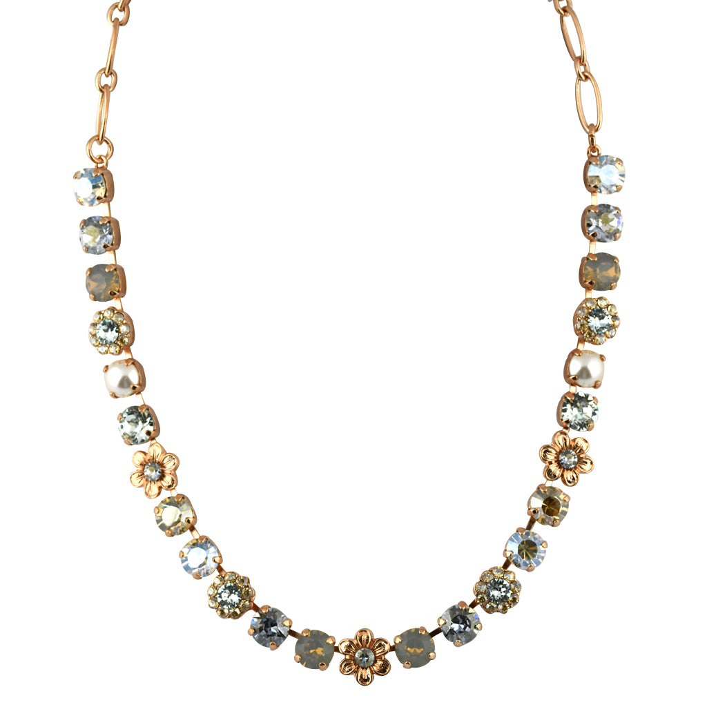 Mariana Jewelry Seashell Necklace, Rose Gold Plated with Swarovski Crystal, Nature Collection MAR-N-3068_4 39361 RG