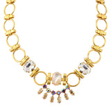 Mariana Aurora Large Flower Necklace, Gold Plated with Swarovski Crystal, 18