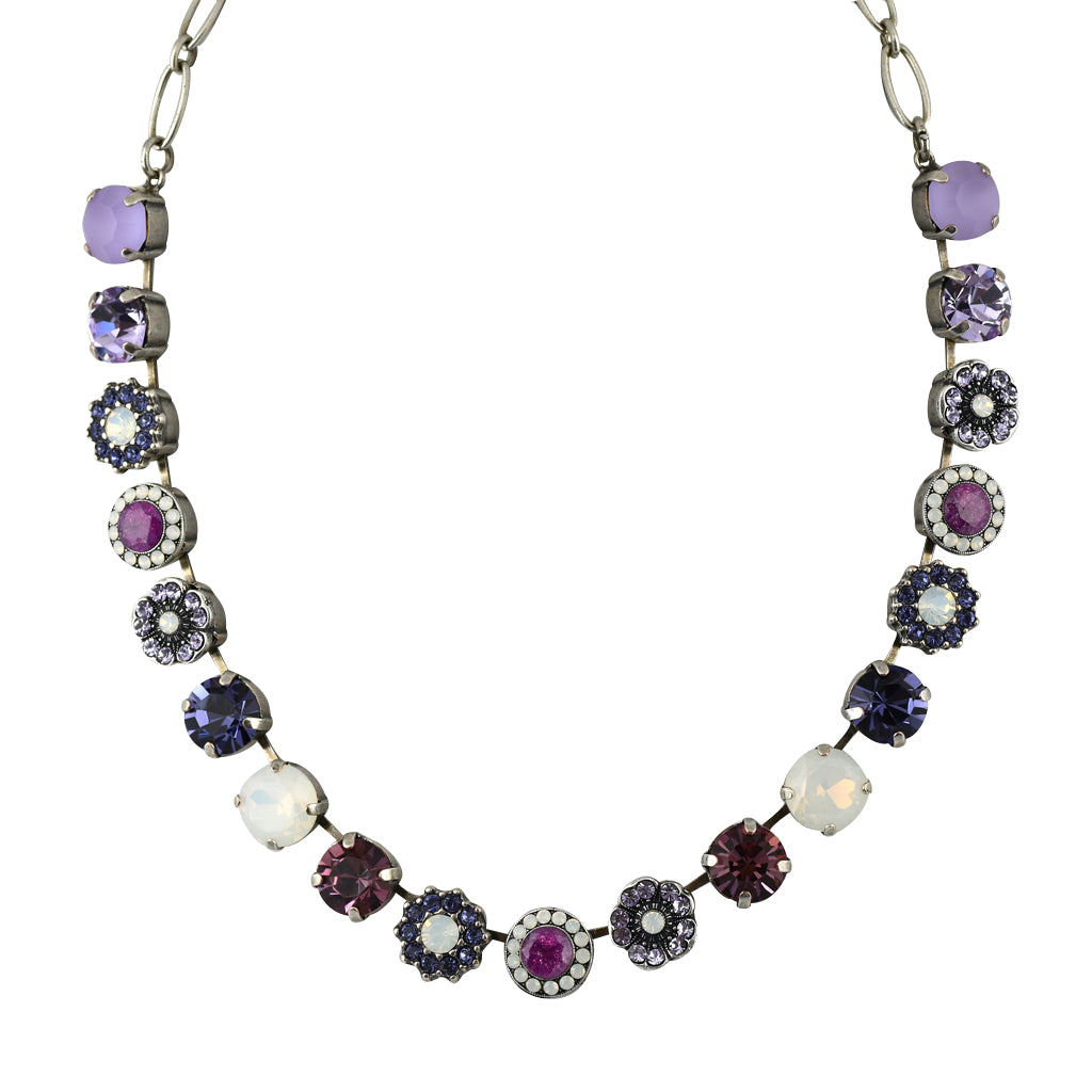 Mariana Jewelry Purple Rain Necklace, Silver Plated with Swarovski Crystal, Nature Collection MAR-N-3084 1062 SP