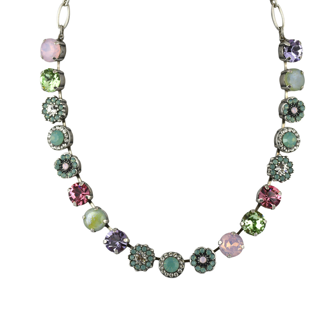Mariana Jewelry Pina Colada Necklace, Silver Plated with Swarovski Crystal, Nature Collection MAR-N-3084 1063 SP