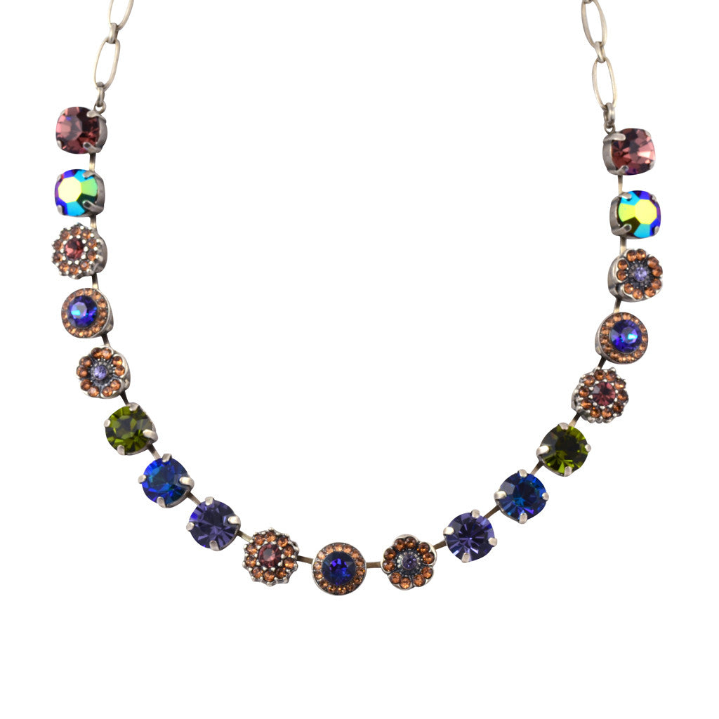 "Mariana Jewelry Penelope Large Flower Necklace, Silver Plated with Swarovski Crystal, 18"" 3084 1089"