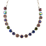 Mariana Penelope Large Flower Necklace, Silver Plated with Swarovski Crystal, 18