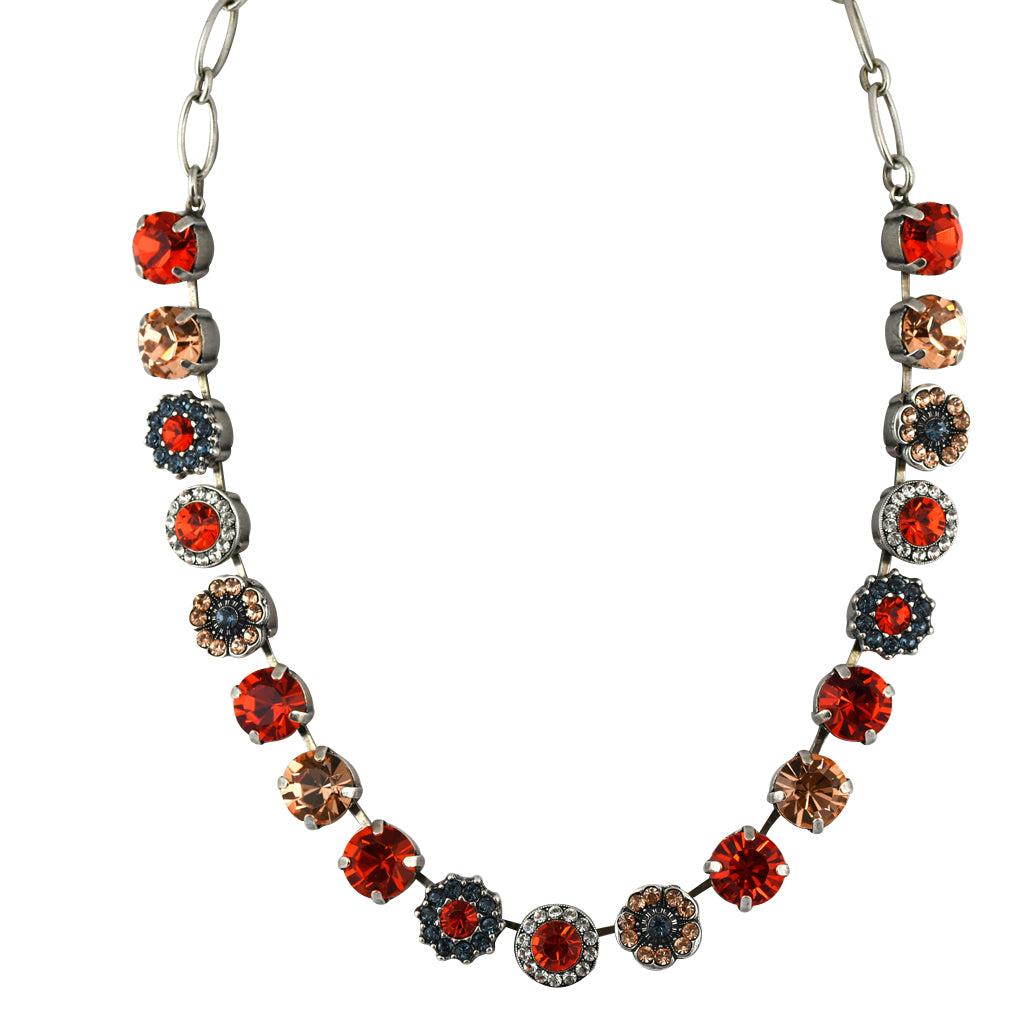 Mariana Jewelry Gelato Necklace, Silver Plated with Swarovski Crystal, Nature Collection MAR-N-3084 117 SP