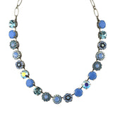 Mariana Jewelry Periwinkle Necklace, Silver Plated with Swarovski Crystal, Nature Collection MAR-N-3084 1343 SP