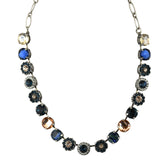 Mariana Jewelry Ocean Necklace, Silver Plated with Swarovski Crystal, Nature Collection MAR-N-3084 2142 SP