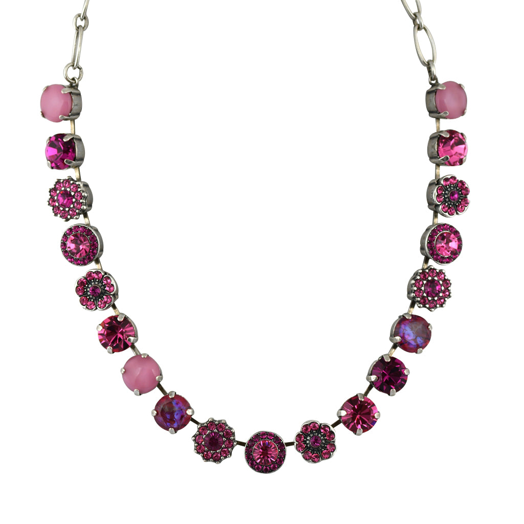 Mariana Jewelry Saba Necklace, Silver Plated with Swarovski Crystal, Nature Collection MAR-N-3084 5022 SP
