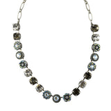 Mariana Jewelry Ice Necklace, Silver Plated with Swarovski Crystal, Nature Collection MAR-N-3084 512 SP