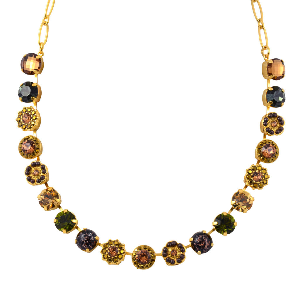 "Mariana Jewelry Harmonia Large Flower Necklace, Gold Plated with Swarovski Crystal, 18"" 3084 901"