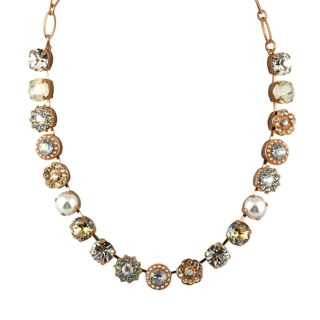 Mariana Jewelry Seashell Necklace, Rose Gold Plated with Swarovski Crystal, Nature Collection MAR-N-3084 M39361 RG