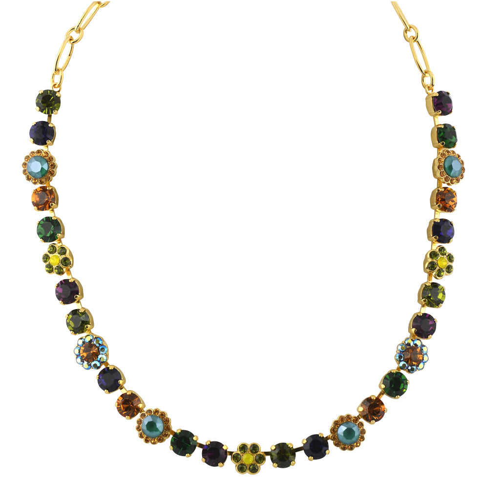 "Mariana Jewelry Holiday Lights Gold Plated Flower Necklace, 18"" 3173/4"
