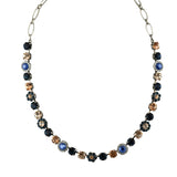 Mariana Jewelry Ocean Necklace, Silver Plated with Swarovski Crystal, Nature Collection MAR-N-3173_4 2142 SP