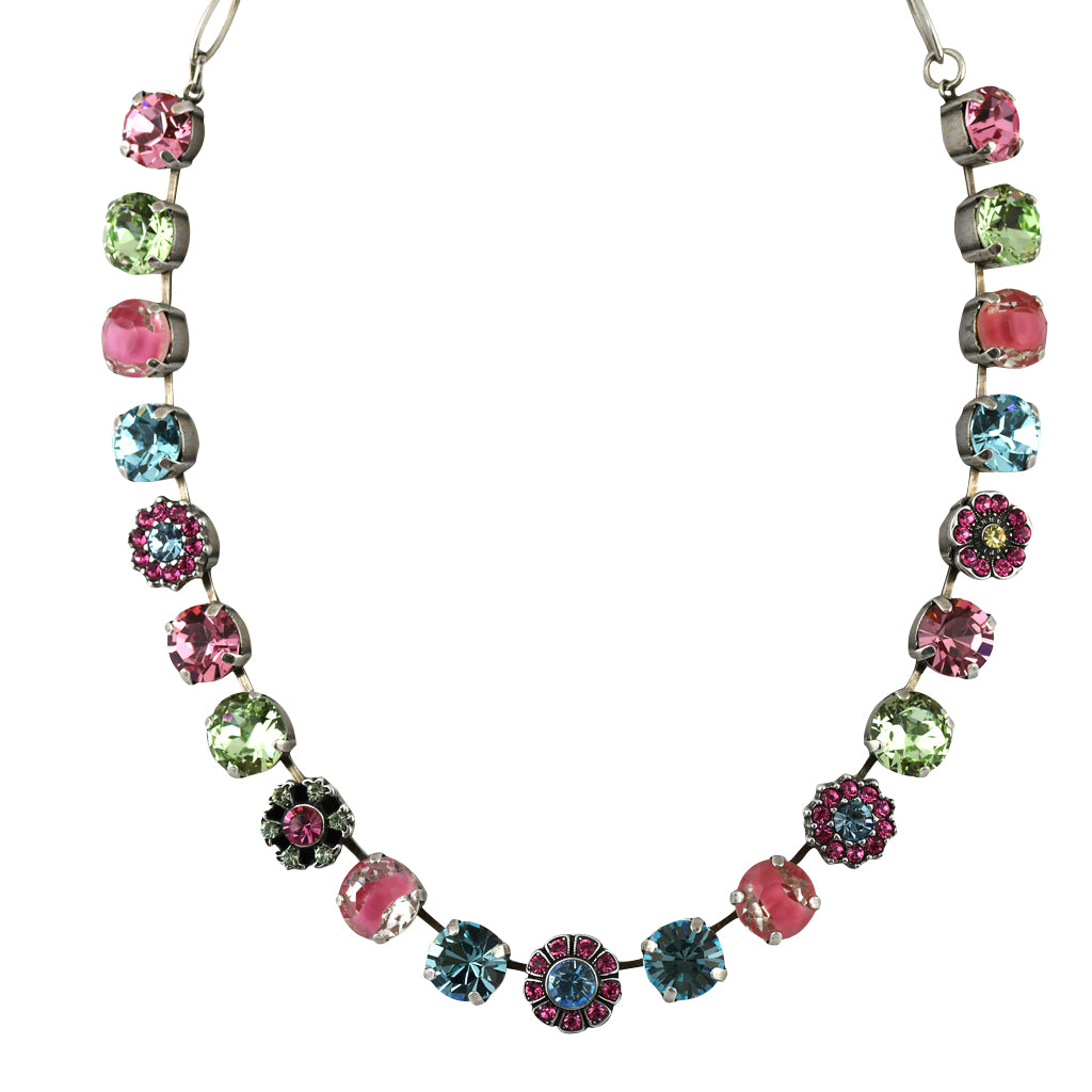 Mariana Jewelry Spring Flowers Necklace, Silver Plated with Swarovski Crystal, Nature Collection MAR-N-3174 2141 SP