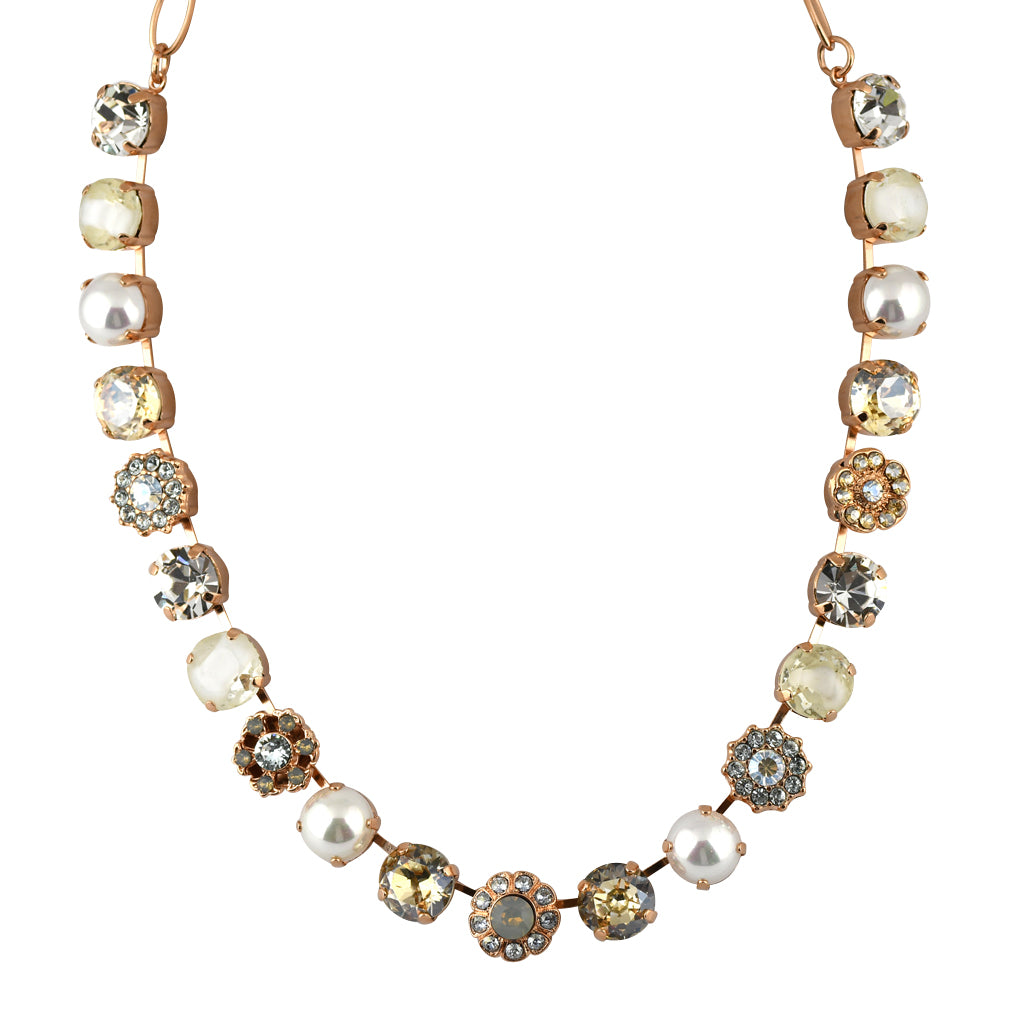 Mariana Jewelry Seashell Necklace, Rose Gold Plated with Swarovski Crystal, Nature Collection MAR-N-3174 M39361 RG