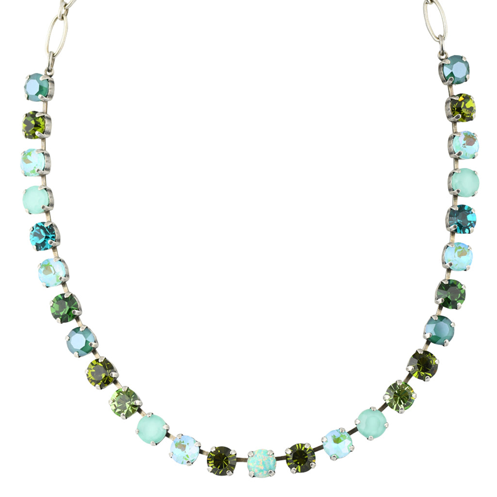 Mariana Ivy Necklace, Silver Plated Opal Accent Swarovksi Crystal, 8""