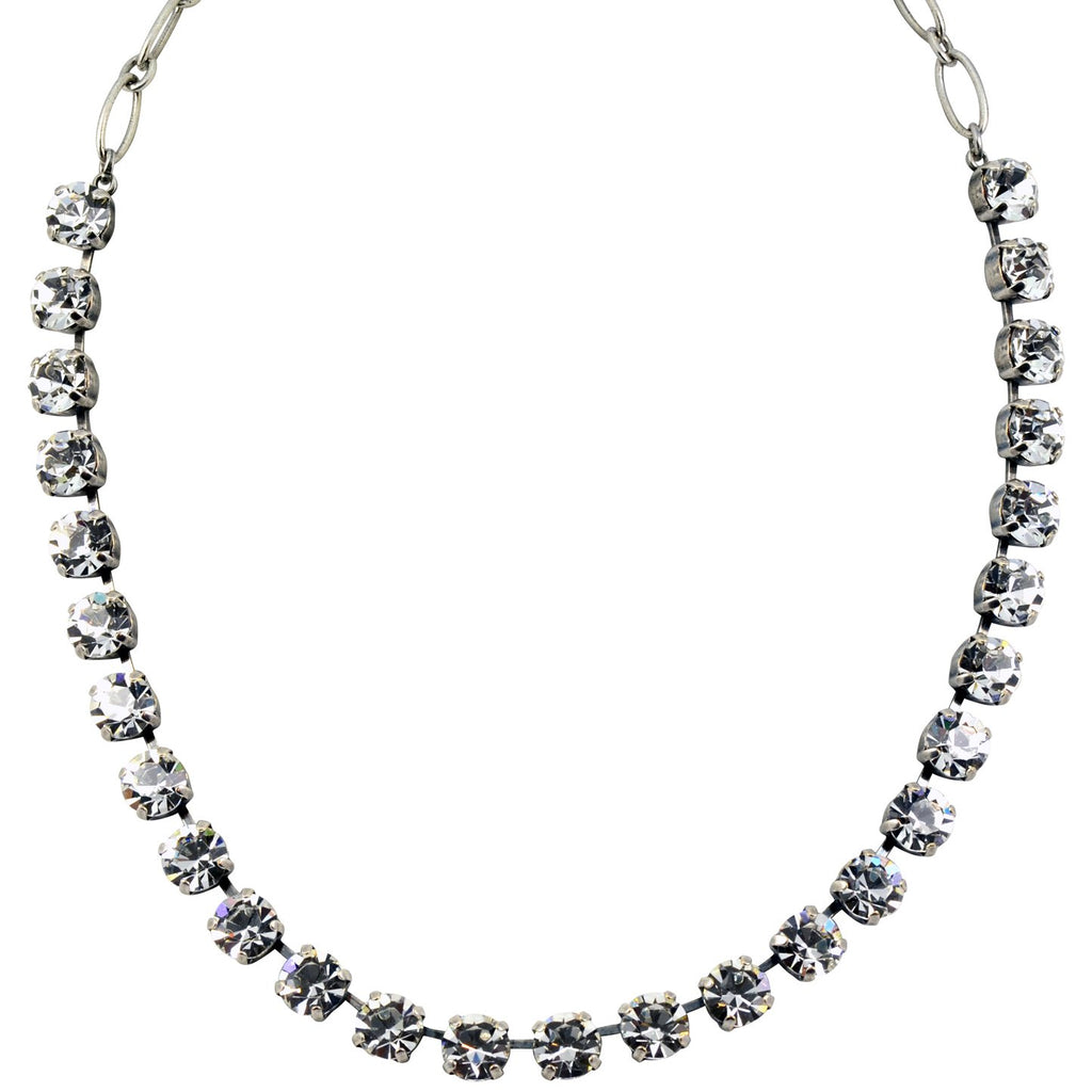 "Mariana Jewelry On A Clear Day Round Necklace, Silver Plated with Swarovski Crystal, 18"" 3252 001001"