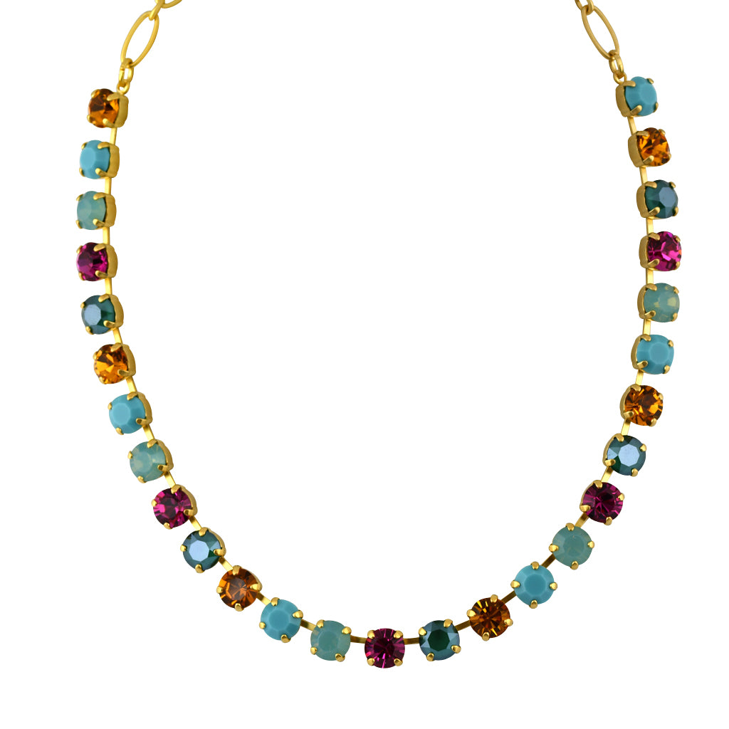 Mariana Jewelry Happy Days Necklace, Gold Plated with Swarovski Crystal, Nature Collection MAR-N-3252 1007 YG