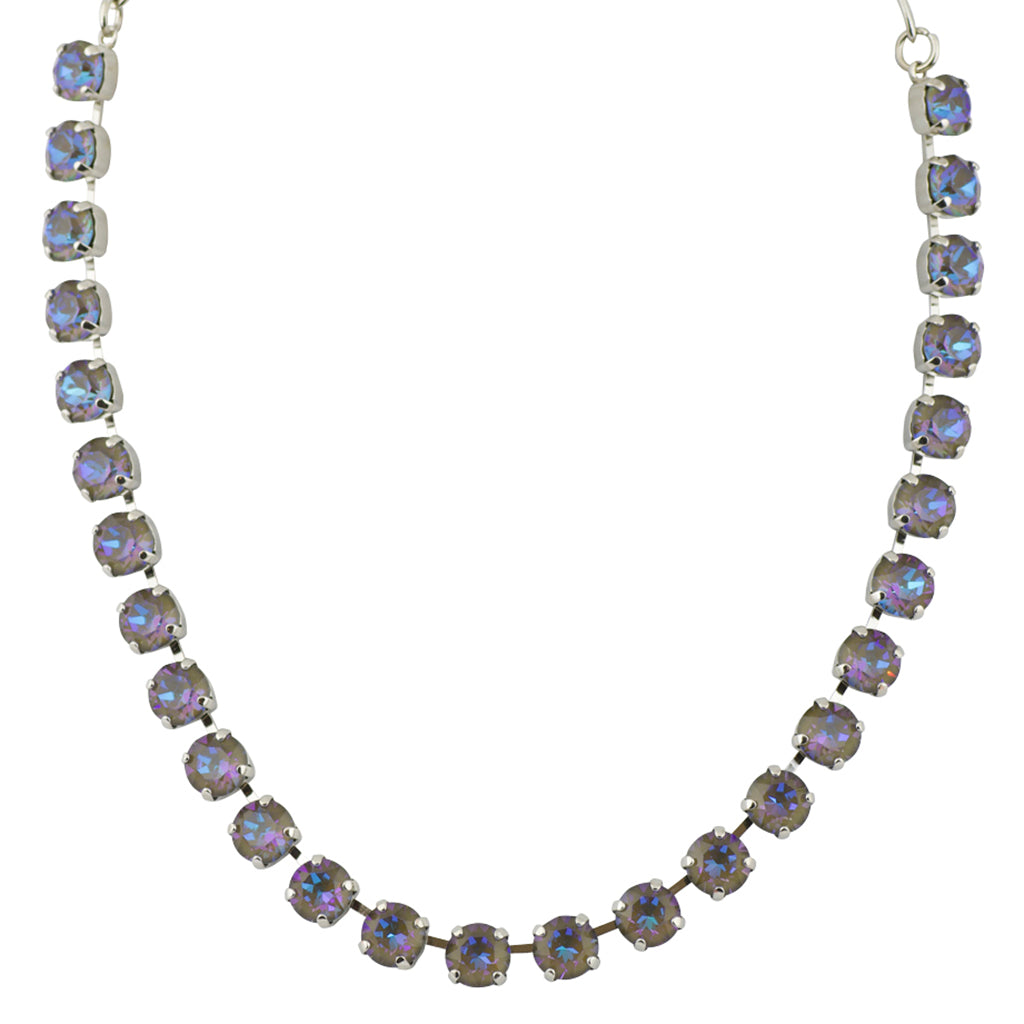 Mariana Sun-Kissed Midnight Round Necklace, Rhodium Plated, 18""