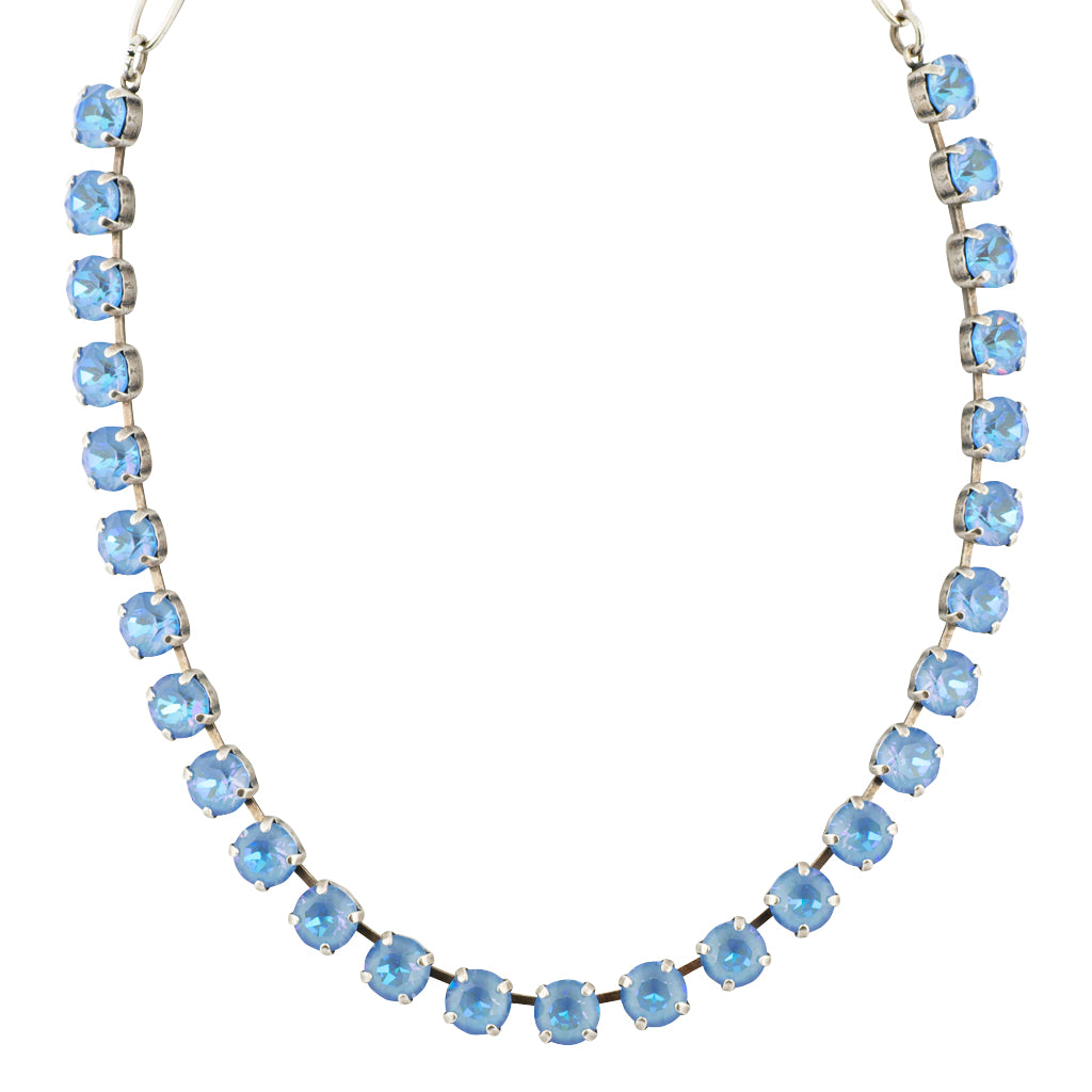 Mariana Astral Blue Silver Plated Crystal Necklace, 18""