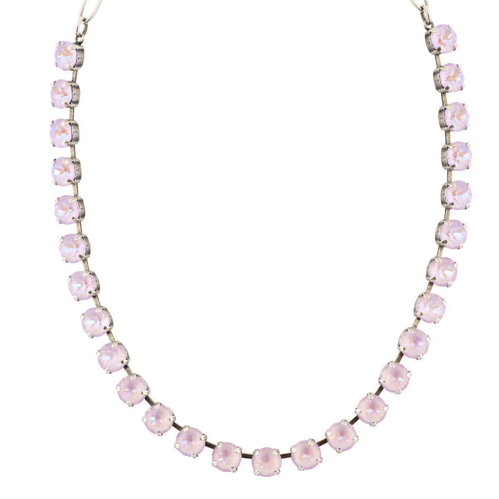 Mariana Astral Purple Silver Plated Crystal Necklace, 18""