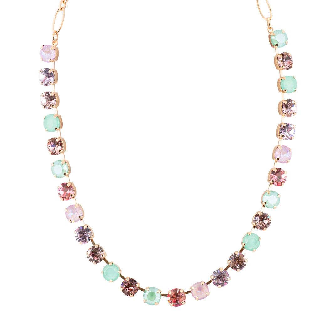 "Mariana ""Lavender"" Rose Gold Plated Crystal Necklace, 18"""